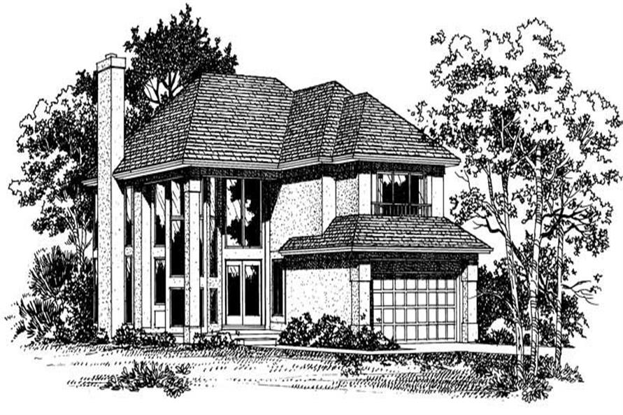 FRONT RENDERING of this 4-Bedroom,2319 Sq Ft Plan -2319