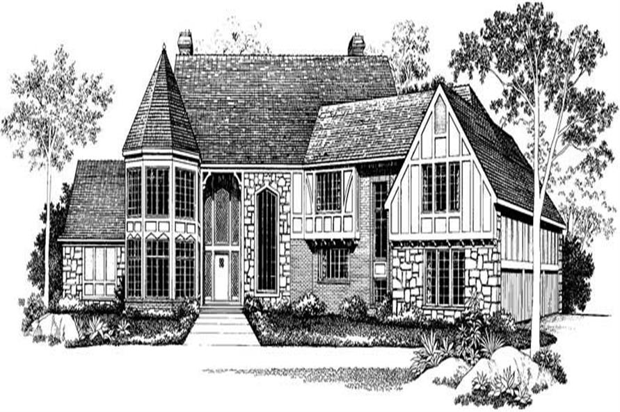 5-Bedroom, 5926 Sq Ft European Home Plan - 137-1545 - Main Exterior
