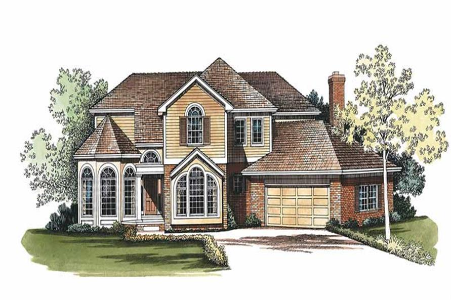 3-Bedroom, 2415 Sq Ft Contemporary House Plan - 137-1546 - Front Exterior