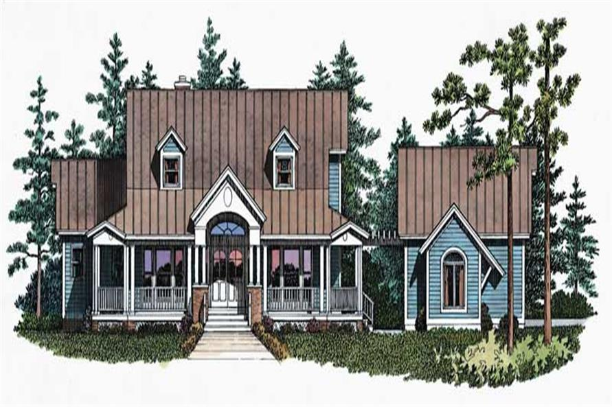 3-Bedroom, 2128 Sq Ft Country House Plan - 137-1547 - Front Exterior