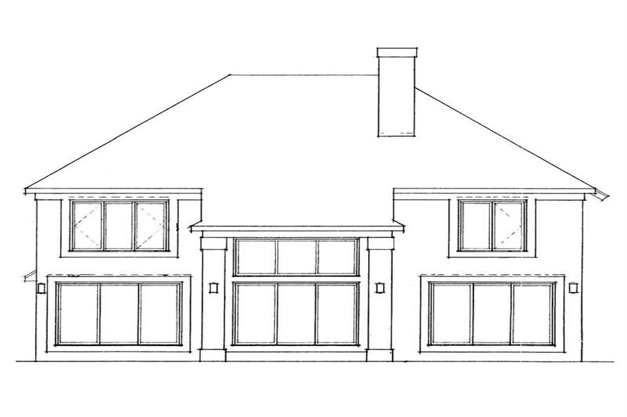 Home Plan Rear Elevation of this 3-Bedroom,2109 Sq Ft Plan -137-1549
