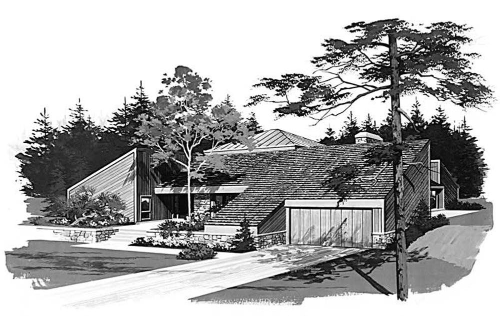 Contemporary home (ThePlanCollection: Plan #137-1550)