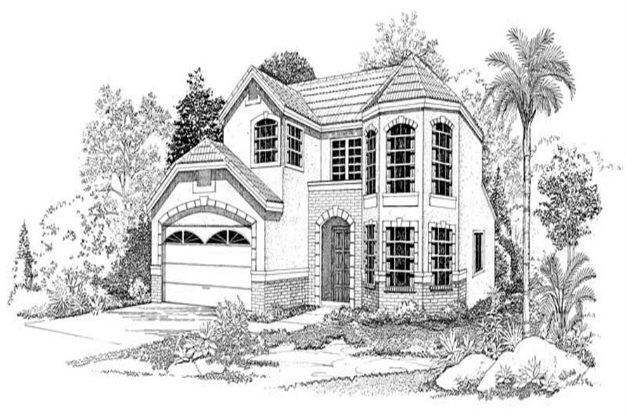 3-Bedroom, 1606 Sq Ft Contemporary Home Plan - 137-1555 - Main Exterior