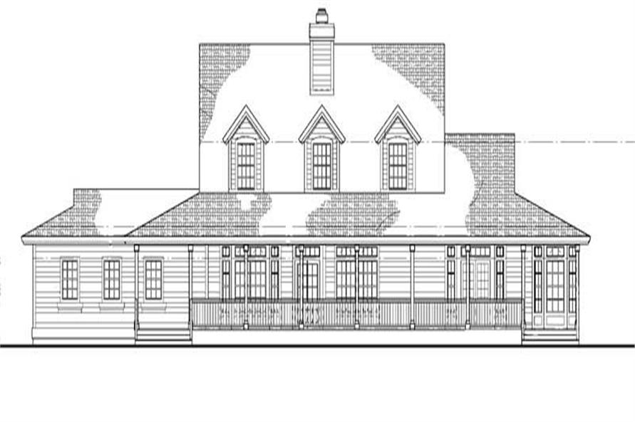 Home Plan Rear Elevation of this 4-Bedroom,3434 Sq Ft Plan -137-1556