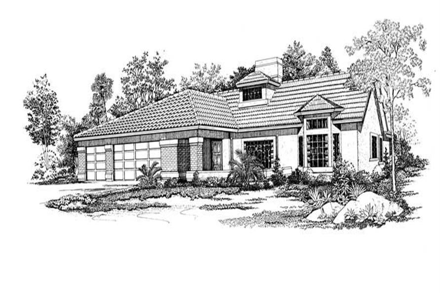 Home Plan Rendering of this 4-Bedroom,2394 Sq Ft Plan -137-1557