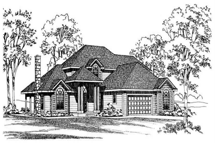 4-Bedroom, 2877 Sq Ft Traditional Home Plan - 137-1558 - Main Exterior