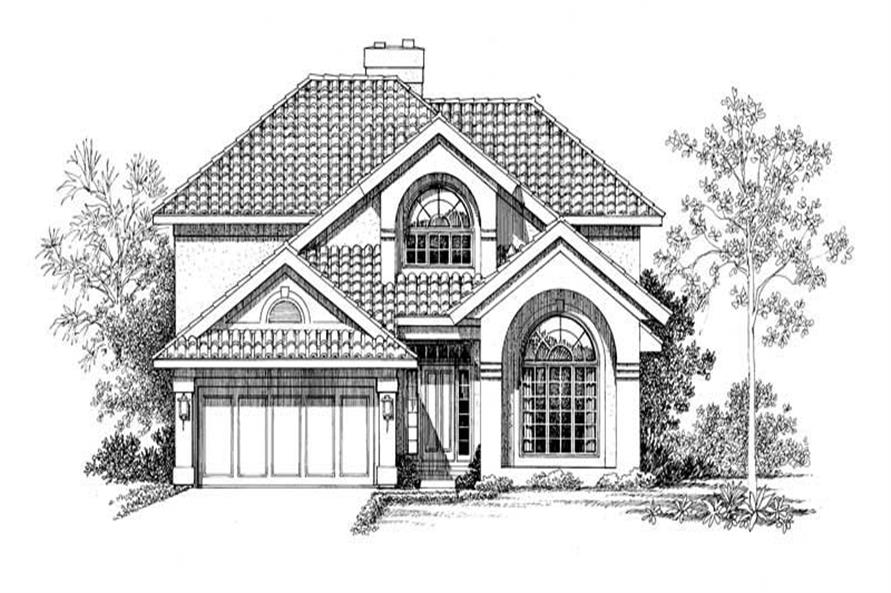 4-Bedroom, 2652 Sq Ft Mediterranean House Plan - 137-1559 - Front Exterior
