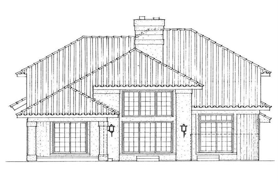 Home Plan Rear Elevation of this 4-Bedroom,2652 Sq Ft Plan -137-1559