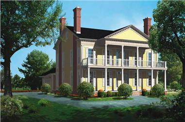 4-Bedroom, 4119 Sq Ft Colonial Home Plan - 137-1562 - Main Exterior