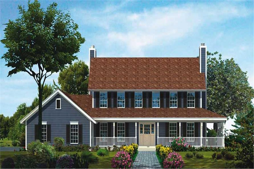 4-Bedroom, 3073 Sq Ft Country House Plan - 137-1564 - Front Exterior