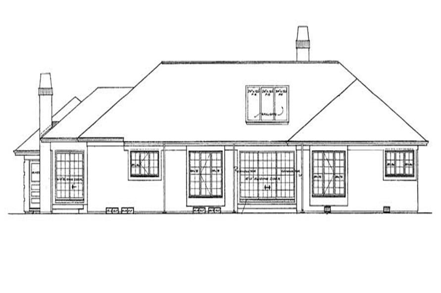 Home Plan Rear Elevation of this 4-Bedroom,3054 Sq Ft Plan -137-1565