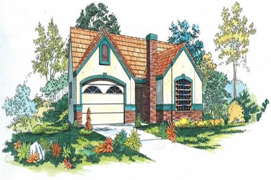3-Bedroom, 1375 Sq Ft Bungalow Home Plan - 137-1566 - Main Exterior