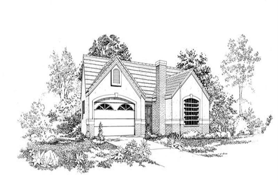 FRONT RENDERING of this 3-Bedroom,1375 Sq Ft Plan -1375