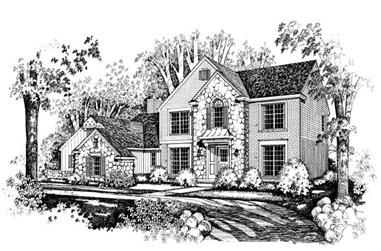 4-Bedroom, 3343 Sq Ft Colonial House Plan - 137-1567 - Front Exterior