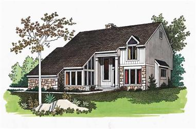 3-Bedroom, 2158 Sq Ft Contemporary Home Plan - 137-1572 - Main Exterior