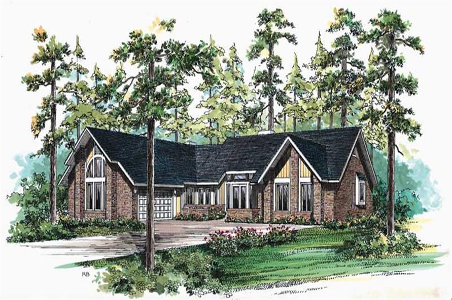 3-Bedroom, 2913 Sq Ft Contemporary Home Plan - 137-1575 - Main Exterior