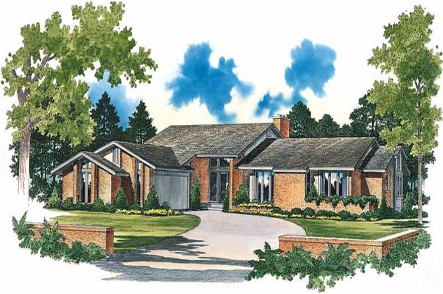 3-Bedroom, 2734 Sq Ft Contemporary Home Plan - 137-1576 - Main Exterior