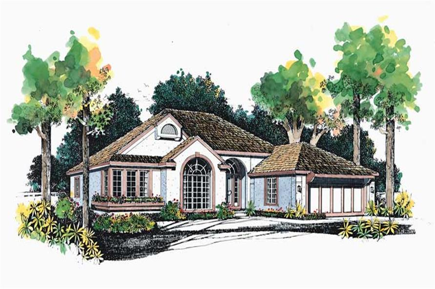 3-Bedroom, 1981 Sq Ft Home Plan - 137-1577 - Main Exterior
