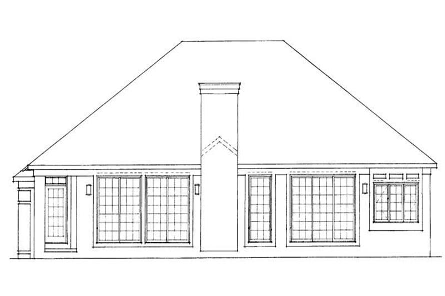 Home Plan Rear Elevation of this 3-Bedroom,1981 Sq Ft Plan -137-1577