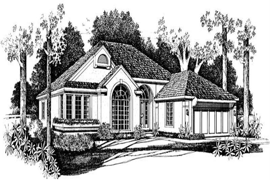 Home Plan Front Elevation of this 3-Bedroom,1981 Sq Ft Plan -137-1577