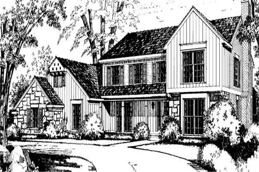 4-Bedroom, 2979 Sq Ft Country House Plan - 137-1578 - Front Exterior