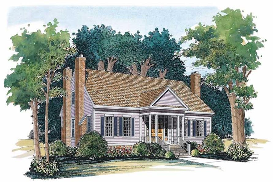 3-Bedroom, 2215 Sq Ft Country Home Plan - 137-1582 - Main Exterior