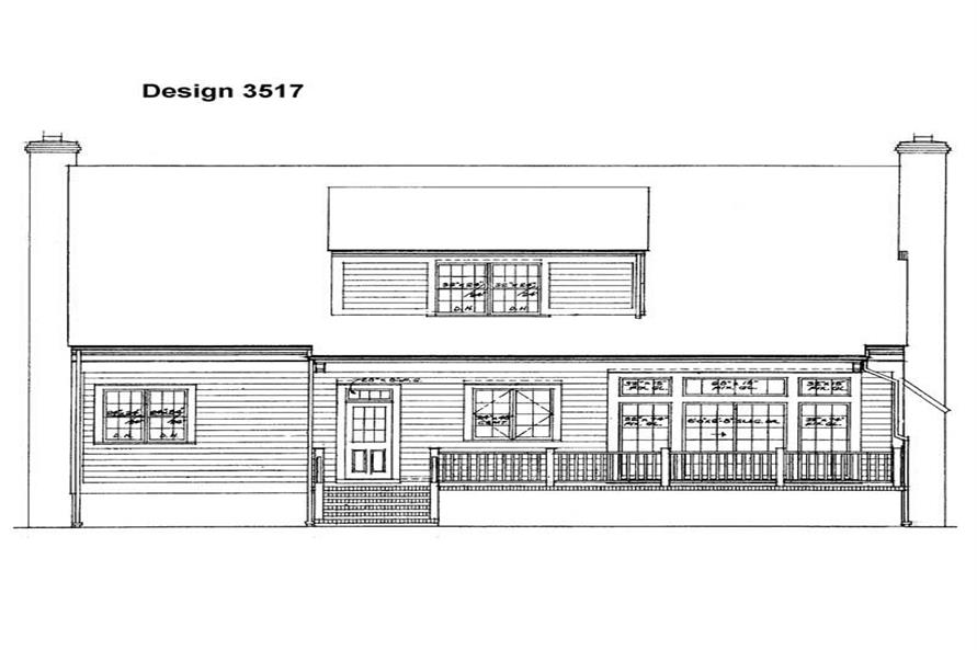 Home Plan Rear Elevation of this 3-Bedroom,2215 Sq Ft Plan -137-1582