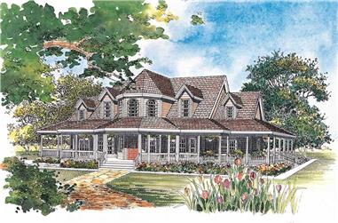 4-Bedroom, 2658 Sq Ft Victorian House Plan - 137-1588 - Front Exterior