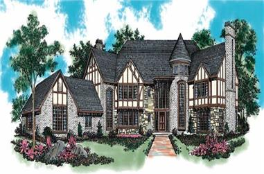 5-Bedroom, 7275 Sq Ft European Home Plan - 137-1590 - Main Exterior