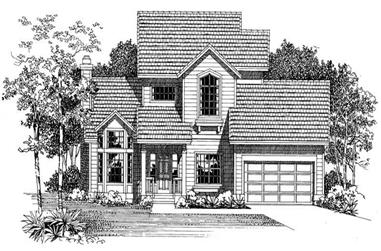 2-Bedroom, 1825 Sq Ft Traditional House Plan - 137-1591 - Front Exterior