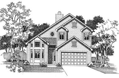 3-Bedroom, 1973 Sq Ft Cape Cod House Plan - 137-1592 - Front Exterior