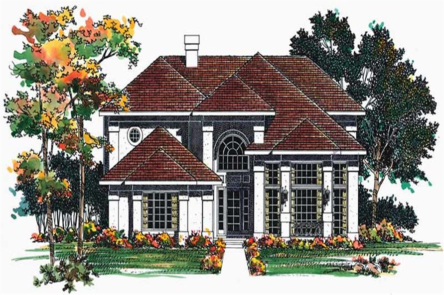 3-Bedroom, 2224 Sq Ft Mediterranean House Plan - 137-1594 - Front Exterior