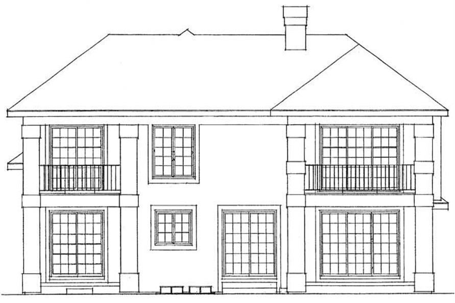 Home Plan Rear Elevation of this 3-Bedroom,2224 Sq Ft Plan -137-1594