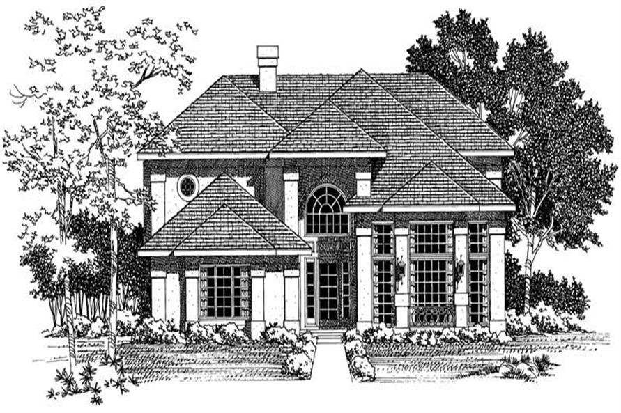 Home Plan Rendering of this 3-Bedroom,2224 Sq Ft Plan -137-1594