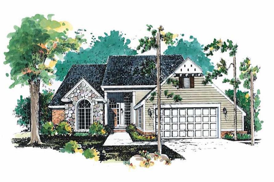 4-Bedroom, 2288 Sq Ft Country Home Plan - 137-1600 - Main Exterior
