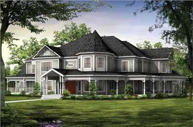 5-Bedroom, 4826 Sq Ft Victorian Home Plan - 137-1601 - Main Exterior