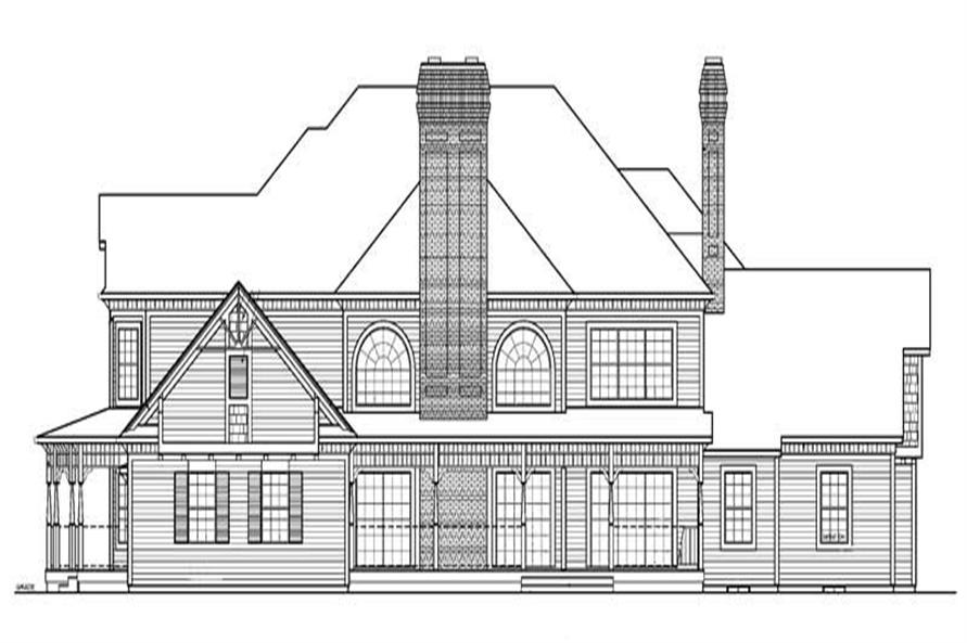 Home Plan Rear Elevation of this 5-Bedroom,4826 Sq Ft Plan -137-1601