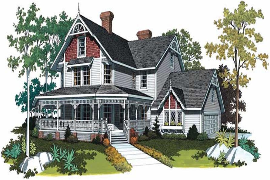 5-Bedroom, 3722 Sq Ft Victorian Home Plan - 137-1603 - Main Exterior