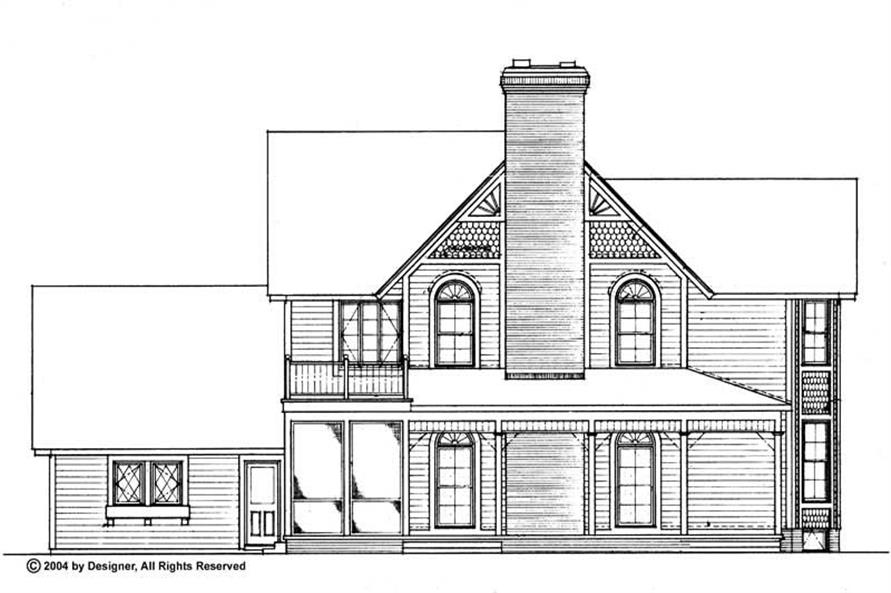 Home Plan Rear Elevation of this 5-Bedroom,3722 Sq Ft Plan -137-1603