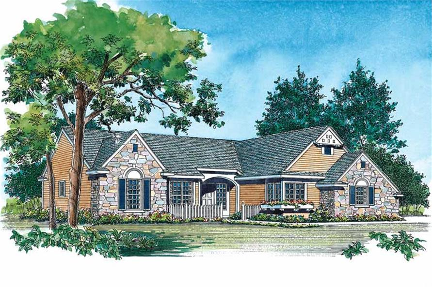 2-Bedroom, 1842 Sq Ft European Home Plan - 137-1604 - Main Exterior