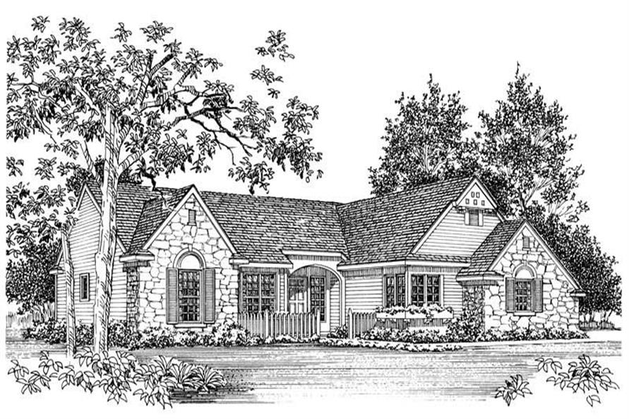 FRONT RENDERING of this 2-Bedroom,1842 Sq Ft Plan -1842