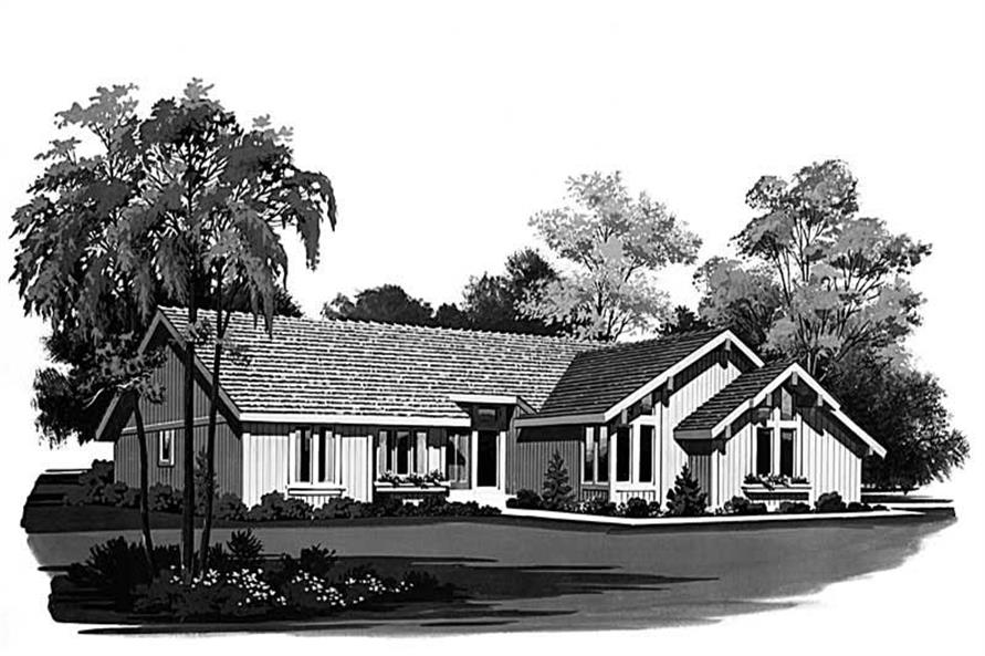 Contemporary home (ThePlanCollection: Plan #137-1605)
