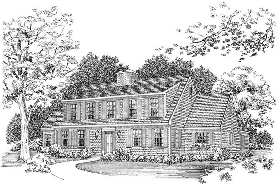 3-Bedroom, 2646 Sq Ft Colonial House Plan - 137-1607 - Front Exterior