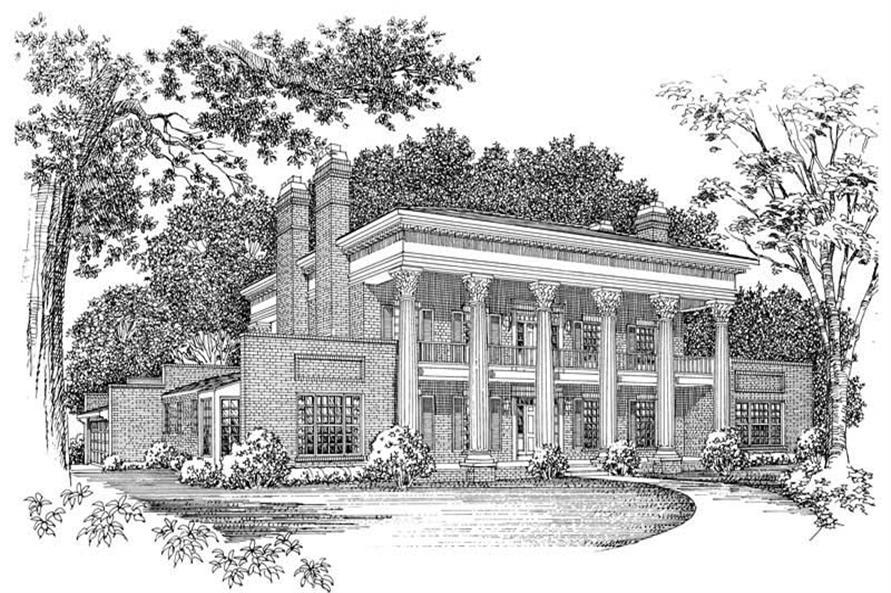 4-Bedroom, 4157 Sq Ft Colonial House Plan - 137-1608 - Front Exterior