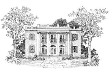 4-Bedroom, 4690 Sq Ft Colonial House Plan - 137-1609 - Front Exterior