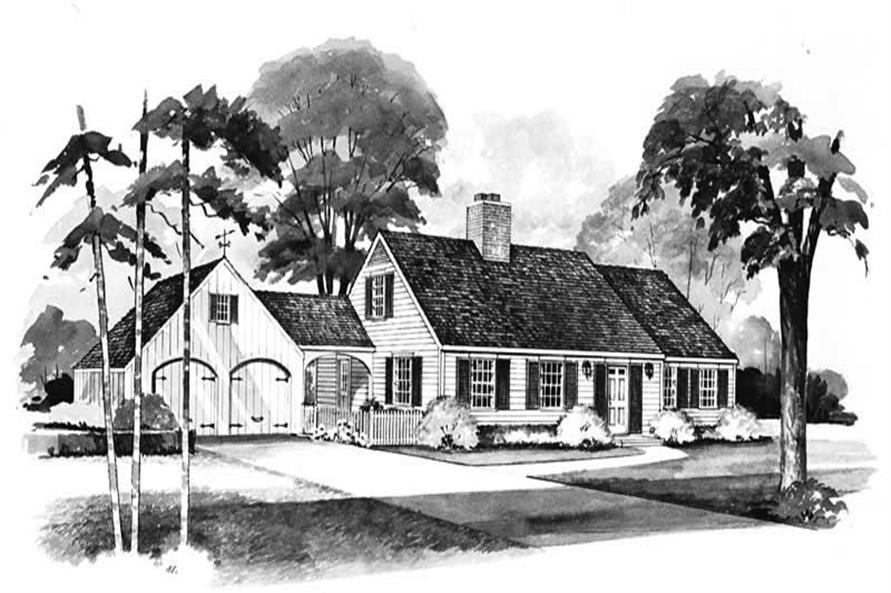 4-Bedroom, 1771 Sq Ft Cape Cod Home Plan - 137-1610 - Main Exterior
