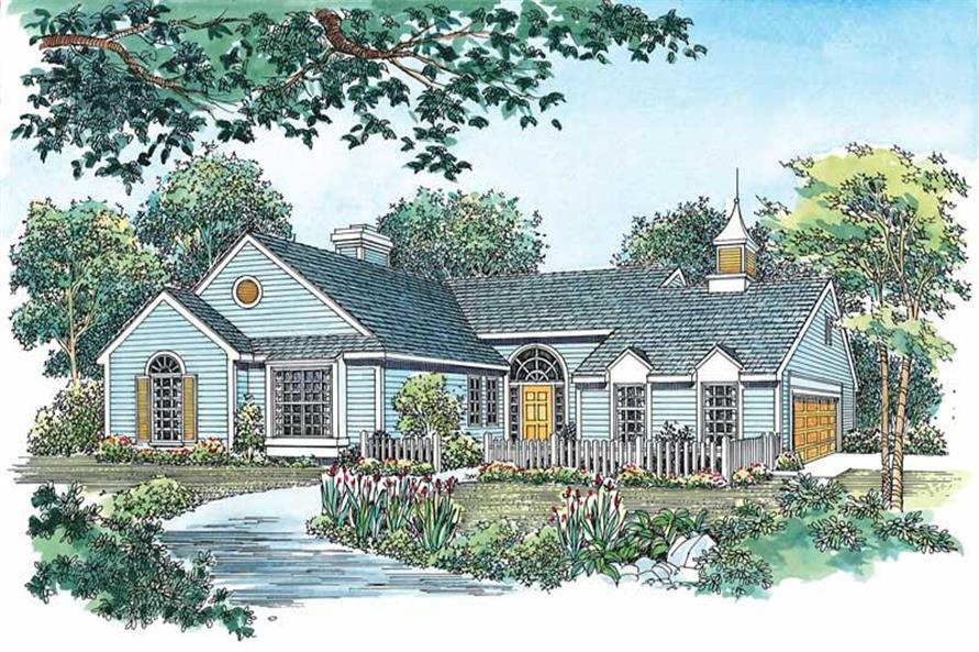 3-Bedroom, 1689 Sq Ft Country Home Plan - 137-1611 - Main Exterior