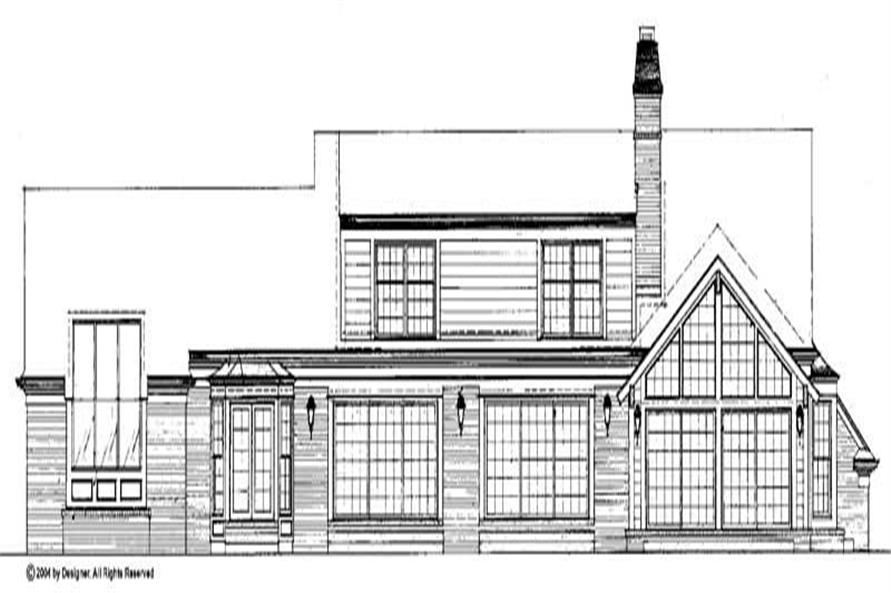 Home Plan Rear Elevation of this 3-Bedroom,3926 Sq Ft Plan -137-1612