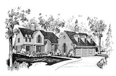 4-Bedroom, 5084 Sq Ft Colonial House Plan - 137-1615 - Front Exterior