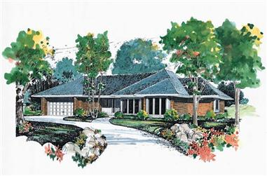 3-Bedroom, 2722 Sq Ft Ranch House Plan - 137-1616 - Front Exterior